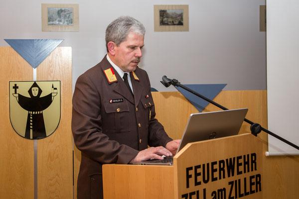 Eröffnung der 151. Jahreshauptversammlung durch Kommandant ABI Siegfried Geisler