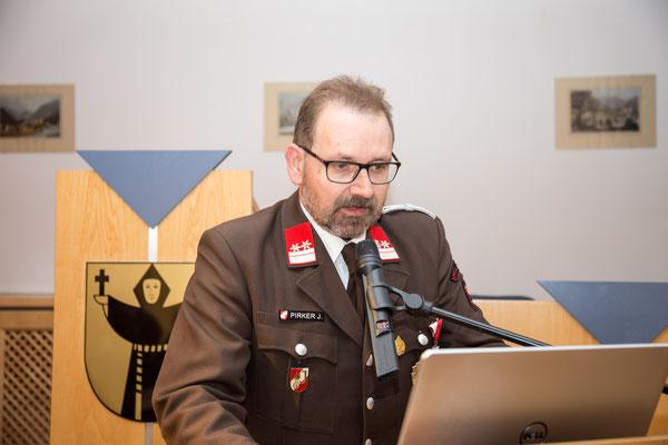 Bericht der Feuerwehrjugend durch Jugendbetreuer OBM Josef Pirker