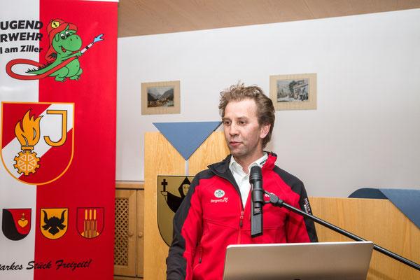 Rede von Ortsstellenleiter Bergrettung Zell am Ziller Werner Stadler