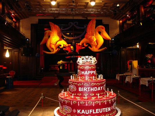 15 year anniversary club Kaufleuten Zurich. Logo in 3D. 2007