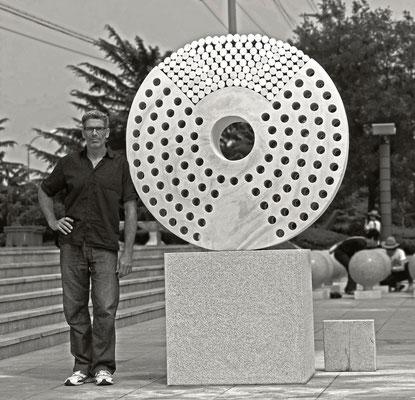Rejoin the Harmony. Qingdao/ China 2013.Marmor, Diameter 1.5 Meter