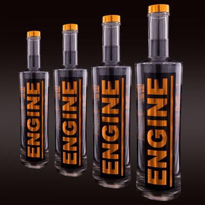 Flaschen Logo -Design für neuen premium swiss Gin ENGINE. 2014