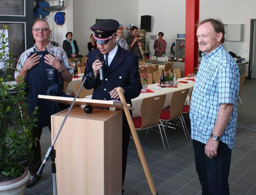 Ehrengabe für Gerhard Rinderspacher und Günther Krauss