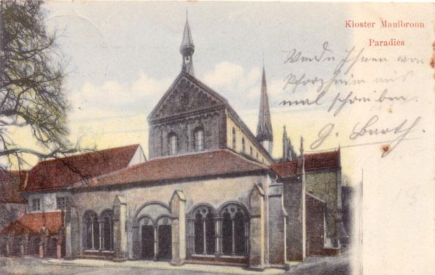 Kloster Maulbronn  - Poststempel nicht lesbar