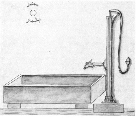 Brunnenentwurf 1884