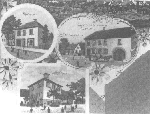 Postkarte: Dürrenbüchig um 1900