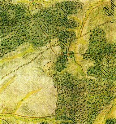 Lage der Gemarkung  1797