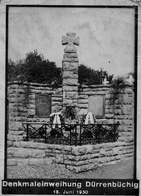 """Kriegerdenkmal 1. Weltkrieg am """"Alten Friedhof"""""""