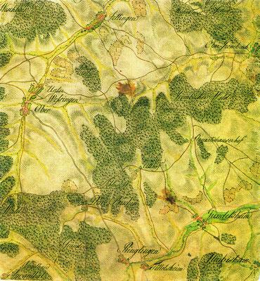 Lage der Gemarkung  1797   - Ausschnitt