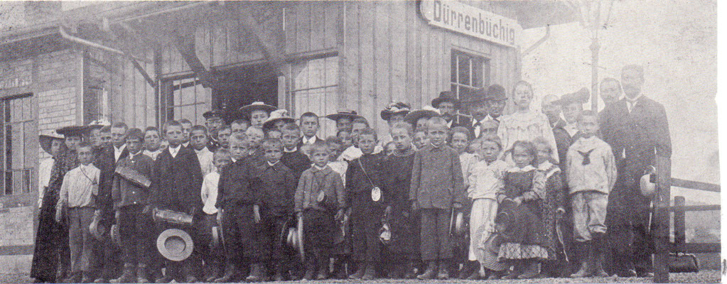 Einweihungsfahrt der Schulkinder nach Karlsruhe 1906