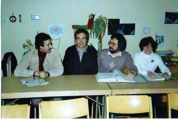 Kindergartenvorstand 1982 (von links: Volkmar klünder, Manfred Boes, Walter Hagmann, Christa Bimmler)