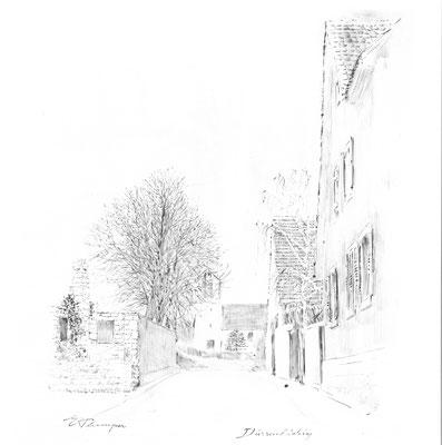 """Kraichgaustrasse gezeichnet von E.Plamper in """"Bretten"""" erschienen 1967"""