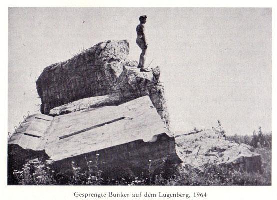 Bunker auf dem Lugenberg 1964 (Ortschronik Dürrenbüchig)