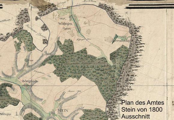 Plan des Amtes Stein 1800 (Erste badische Landesaufnahme - Generallandesarchiv Karlsruhe)