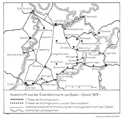 Eisenbahnkarte 1875