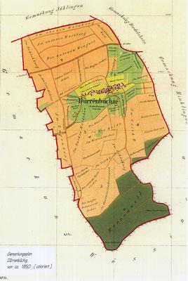 Gemarkungsplan 1850