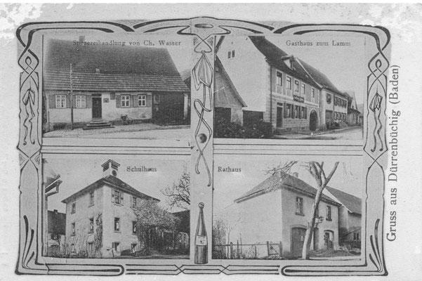 Postkarte von 1909 (Archiv Franz Pillmeier)