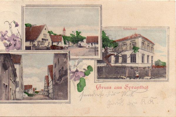 Sprantal - Poststempel 1904