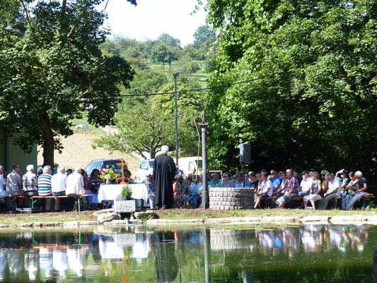 Gottesdienst beim Teichfest 2019