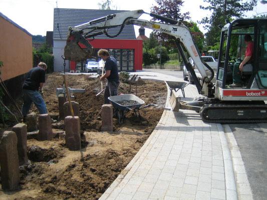 Aufbau der Anlage im Mai 2014