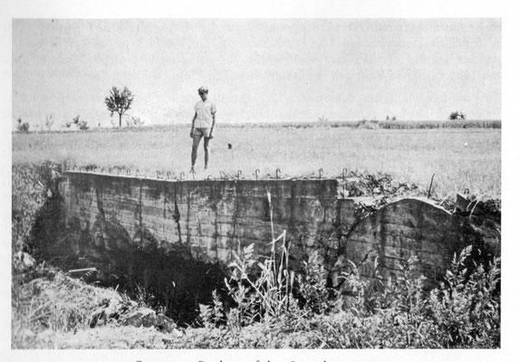 Gesprengte Bunker auf dem Lugenberg 1964 (Ortschronik Dürrenbüchig)