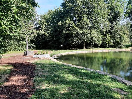 Neu angelegte Teichanlage  August 2019