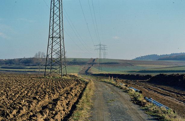 Bau der Druckwasserleitung von Sprantal nach Dürrenbüchig- Bilder: Vermächtnis Rolf Dittes