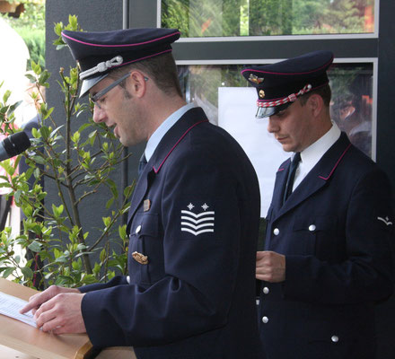 Stadtbrandmeister mit Abteilungskommandant Bimmler