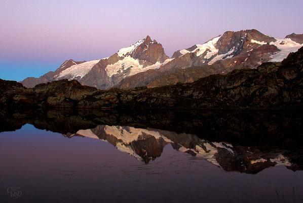 Pastels sur le Lérié, 2370m, face à la Meije