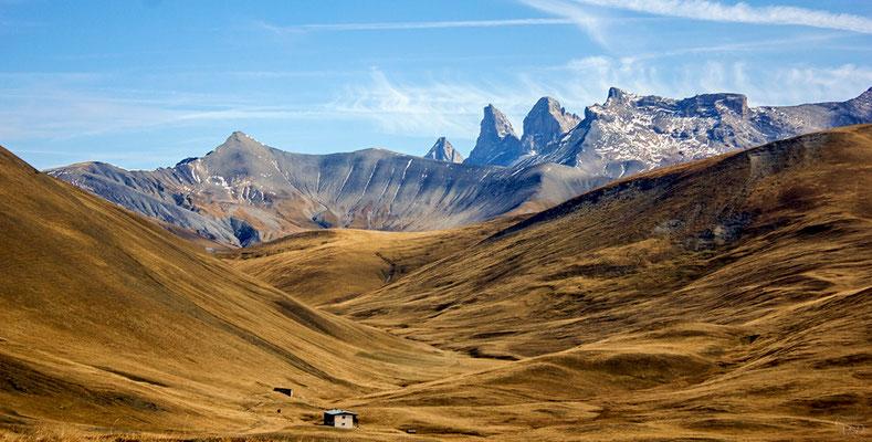 Les AIguilles d'arves (Savoie) depuis Emparis.