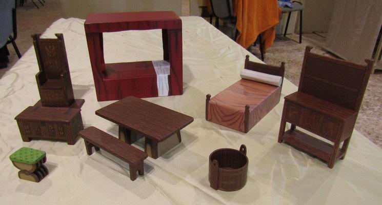 Maquettes en carton - Le mobilier