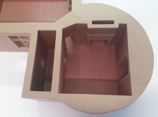 Maquette en carton - L'appartement Renaissance