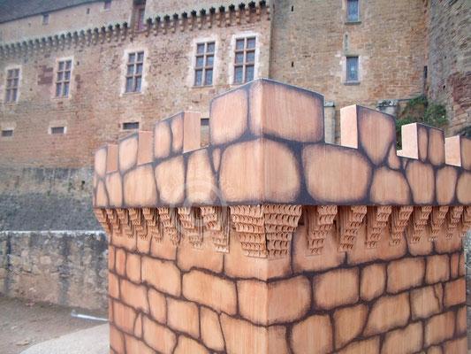 """Tour en carton pour l'espace """"Jeu Enfants"""" - Château de Castelnau (Cf. """"Sur mesure"""")"""