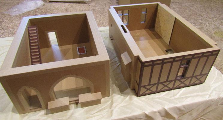 Maquettes en carton - La Maison à pans de bois