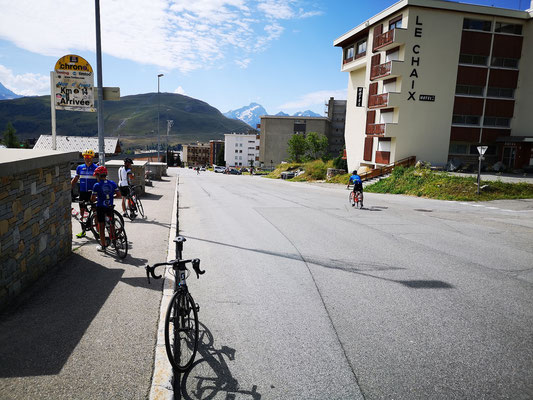 Ziellinie der Tour de France auf Alpe d'Huez
