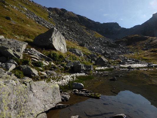 Bergseelein, hinten der Scatta Minoia