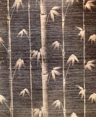 Sisaltapete mit Bambusmotiv
