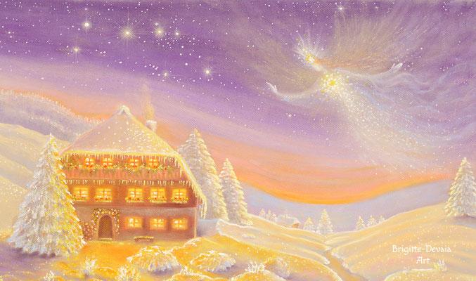 Brigitte-Devaia ART - Winterzauber Engel - Ausschnitt Ferne