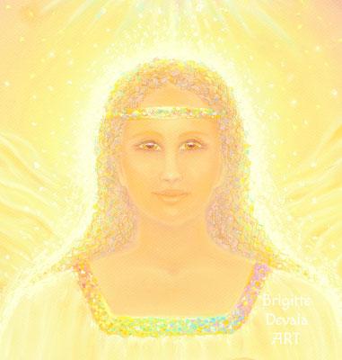 Brigitte-Devaia ART - Umalionn - die Beschützerin - Engel und jenseitiges Geistwesen - Portrait