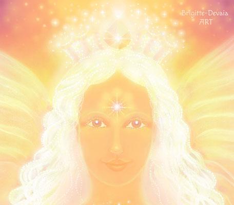 Brigitte-Devaia ART - Amanaa - Engel der Anerkennung innerer Göttlichkeit - Portrait
