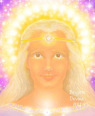 Brigitte-Devaia ART - Aoliia - Engel der Transformation und des Schutzes - Portrait
