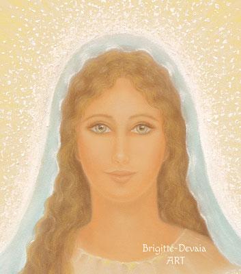 Brigitte-Devaia ART - Maria - Madonna - Meisterin der bedingungslosen Liebe - Bildausschnitt