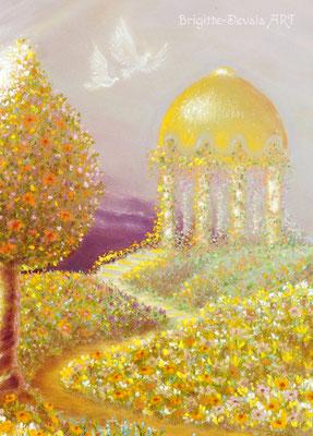 Brigitte-Devaia ART - Naturengel Mahischahi - Engel des Erblühens in Liebe - Auschnitt Pavillon