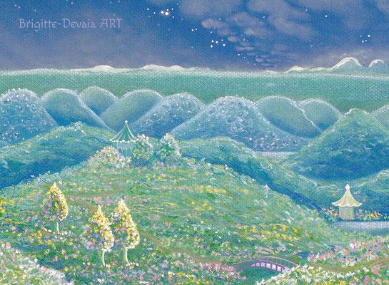 Brigitte-Devaia ART - Sternenwelt Neptun - Ausschnitt Ferne