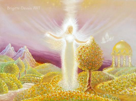 Brigitte-Devaia ART - Mahischahi - Engel des Erblühens in Liebe