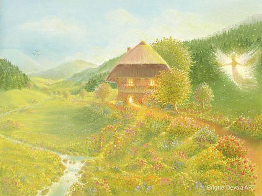 Brigitte-Devaia ART - Bluemehüsli Fee (Blumenhäuschen Fee)