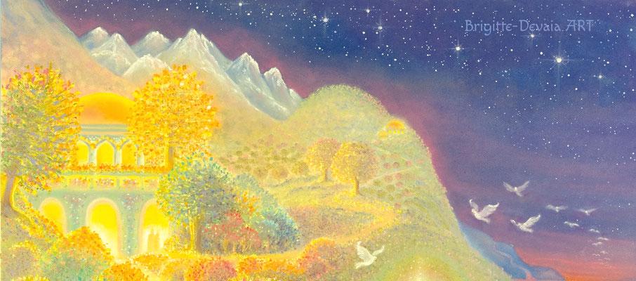 Brigitte-Devaia ART - Abendgebet - Auschnitt Berge