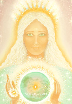 Brigitte-Devaia ART - Weltenmutter Erde - Gaia - Aquaria - Bildauschnitt