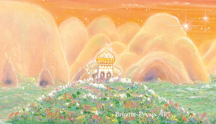 Brigitte-Devaia ART - Sternenwelt Venus - exotische Landschaft - Auschnitt Gebäude