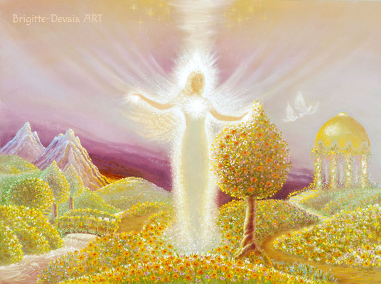 Brigitte-Devaia ART - Naturengel Mahischahi - Engel des Erblühens in Liebe